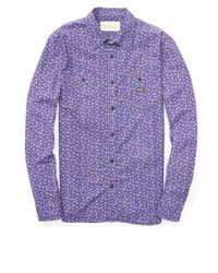 Denim & Supply Ralph Lauren Men's Floral-print Cotton Workshirt - Purple