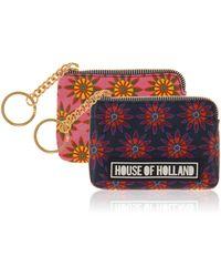 House of Holland - Polka Flower Coin Purse - Lyst