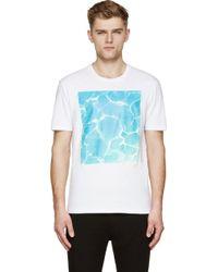 Maison Margiela White Pool Print T_Shirt - Lyst