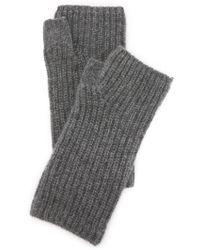 Rag & Bone Alexis Fingerless Cashmere Gloves - Charcoal - Grey