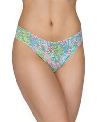 Hanky Panky Lilly Pulitzer Checking In Original Rise Thong - Lyst