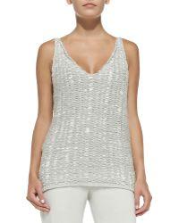 Donna Karan New York Cashmere Sleeveless V-neck Tunic - Lyst