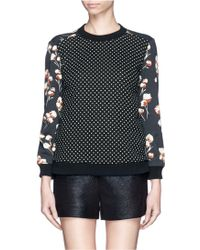 Tory Burch Ronnie Floral and Dot Sweatshirt - Multicolour