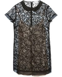 RED Valentino Princess Embroidered Sheer Dress - Lyst