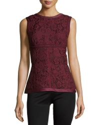 J. Mendel - Sleeveless Floral-lace Top - Lyst