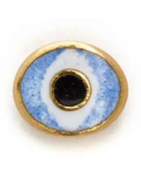 Holly Dyment - Mini Evil Eye Stud Earring - Blue - Lyst