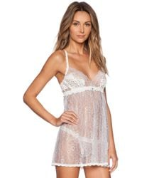 Hanky Panky Dauphine Babydoll With G-String - Lyst