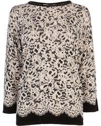 Coast Sansa Lace Print Knit - Lyst