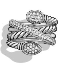 David Yurman Renaissance Crossover Ring with Diamonds - Lyst