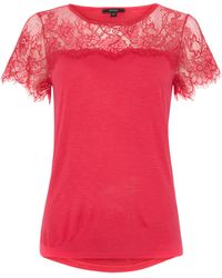 Therapy Lace Yoke Tee - Lyst