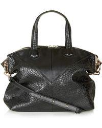 Topshop Slouchy Embossed Tote Bag  Black - Lyst