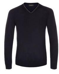Paul Smith Navy Merino Wool V-Neck Sweater - Lyst