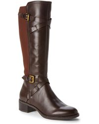 Franco Sarto Brown Chrome Riding Boots - Lyst