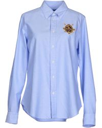 Ralph Lauren Blue Shirt - Lyst