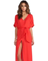 Charlie By Matthew Zink Charlie Caftan in Red - Lyst