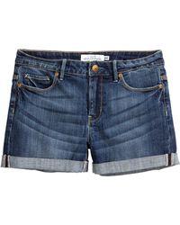H&M Denim Shorts - Lyst