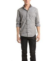 Blue&Cream Grey Micro Check Gingham Buttondown Shirt black - Lyst