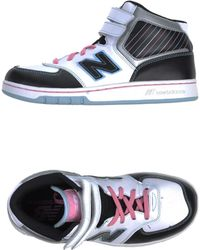 New Balance Black Hightops  Trainers - Lyst