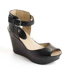 Kenneth Cole Reaction - Sole My Heart Leather Platform Wedge Sandals - Lyst
