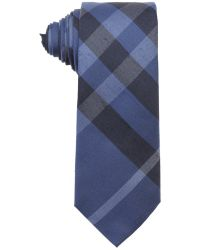 Burberry London Pale Canvas Blue Nova Check Print Silk 'Rohan' Tie - Lyst