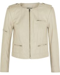 Alice + Olivia Cam Leather Biker Jacket - Lyst