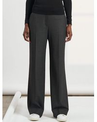 Cefinn Terence Wide Leg Stretch Wool Blend Elasticated Trousers - Multicolour