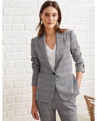 Cefinn Jamie Stretch Wool Blend Blazer - Grey