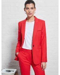 Cefinn Jamie Stretch Wool Blend Blazer - Red