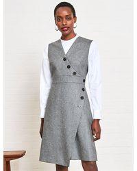 Cefinn Blake Sleeveless A-line Dress - Grey