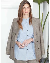 Cefinn Logan Wool Blend Double Breasted Blazer - Multicolour