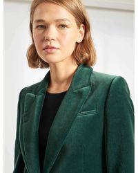 Cefinn Jamie Cotton Velvet Blazer - Green