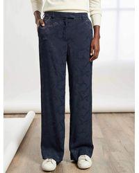 Cefinn Terence Easy Wide Leg Trouser - Blue
