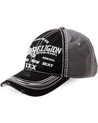 True Religion | Distressed Embroidered Baseball Cap | Lyst