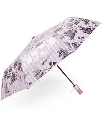 Bebe Auto Open Pink Stripe Umbrella