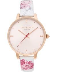 Ted Baker - Te50272013 Rose Gold-tone Watch & Interchangeable Strap Set - Lyst