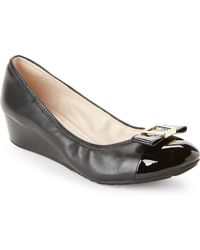 Cole Haan - Black Emory Bow Wedge Pumps - Lyst