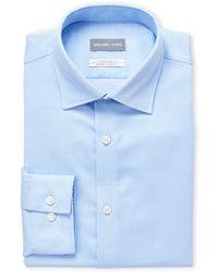 Michael Kors - Powder Blue Dobby Stretch Regular Fit Dress Shirt - Lyst