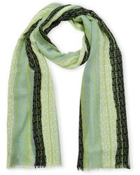 Armani Jeans Color Block Logo Scarf - Green