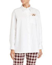 Paul & Joe - White Embroidered Cat Shirt - Lyst