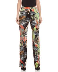 Blugirl Blumarine - Velvet Printed Pants - Lyst