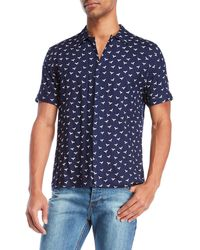 Bellfield - Dove Print Short Sleeve Shirt - Lyst