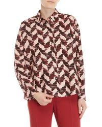Mantu - Pink Printed Cotton Shirt - Lyst