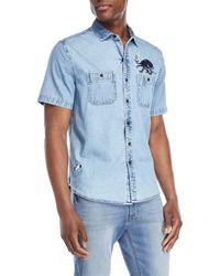 Michael Bastian - Short Sleeve Octopus Embroidery Sport Shirt - Lyst