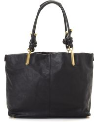 Chloé - Black Leather Tote - Vintage - Lyst