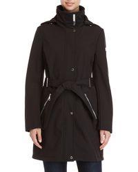 Calvin Klein - Belted Softshell Raincoat - Lyst