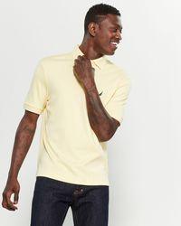 Nautica Short Sleeve Cutaway Collar Polo - Natural