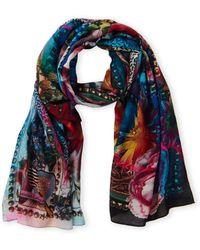 Christian Lacroix - Virgin Wool Multi Print Shawl Scarf - Lyst