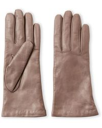 Portolano - Cashmere-lined Leather Gloves - Lyst