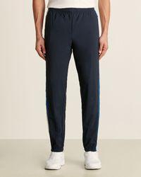 Perry Ellis Logo Track Zip Pants - Blue