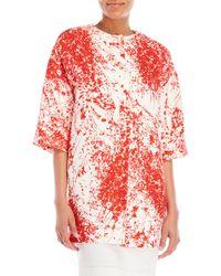 Les Copains - Floral Print Coat - Lyst
